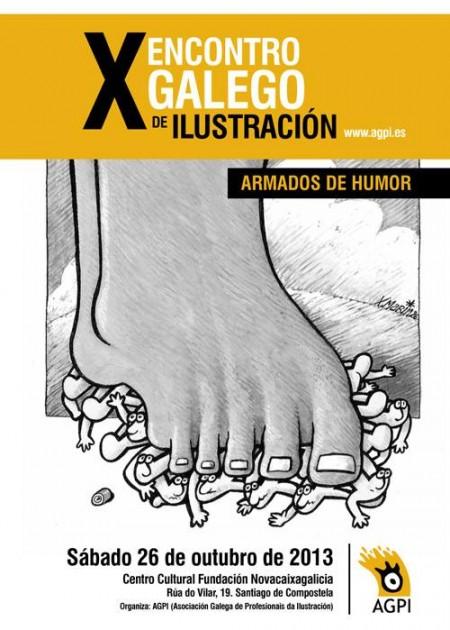 X Encuentro Gallego de Ilustración (AGPI) Armados de humor