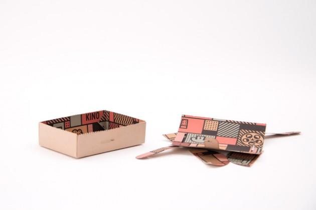 diseño de pakaging Kino - sandra almeida diseño vigo