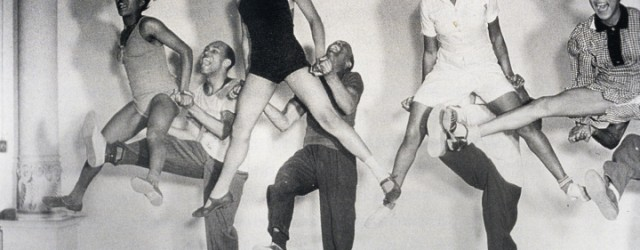 (Left to right) Mickey Sayles and William Downes, Norma Miller and Billy Ricker, Willamae Ricker and Al Minns, and Ann Johnson and Frankie Manning (left to right), rehearsing on the Hellzapoppin' set at Universal Studios in 1941, Courtesy Norma Miller